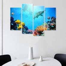 Laeacco Underwater World Sea Fish Posters Prints Abstract Canvas Painting Home Living Room Bedroom Decoration Wall Art Picture laeacco sea marine fish sunshine posters and prints canvas painting wall art picture home decor living room decoration