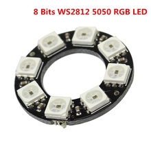 Smart Electronics 8 Bits WS2812 5050 RGB LED Ring Lamp Light with Integrated Drivers