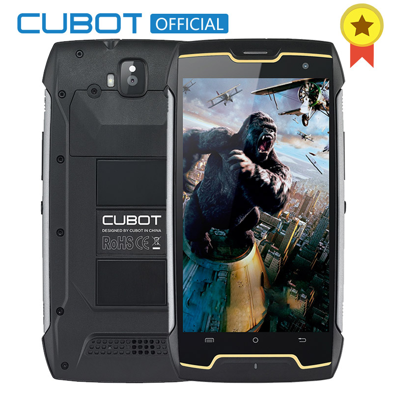 "Original Cubot Kingkong IP68 Waterproof DustprooF Shockproof MT6580 Quad Core Mobile Phone 5.0"" HD 2GB RAM 16GB ROM 4400mAh"