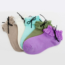 2016 New Women Ladies Vintage Lace Ruffle Frilly Ankle Socks Hot Princess Girl Cute Sweet  5 Colors