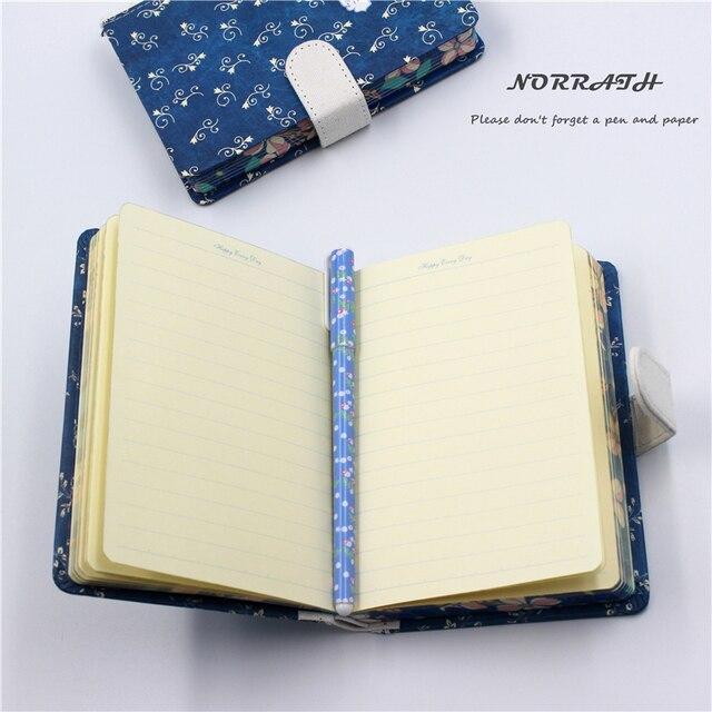Kawaii bleu floral pastorale imprimé cahier boucle magnétique bloc-notes fournitures scolaires accessoires de bureau cadeau enfant