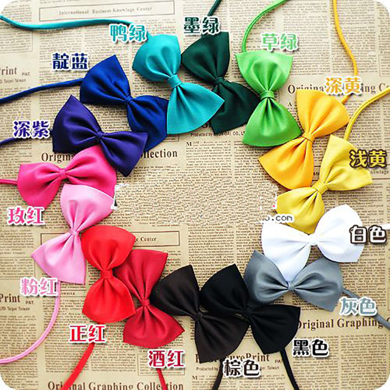15 Colors 100 pcs/bag Pet Grooming Accessories mix colors Handmade Adjustable pet dog cat bow tie Pet Products Fast Shipping