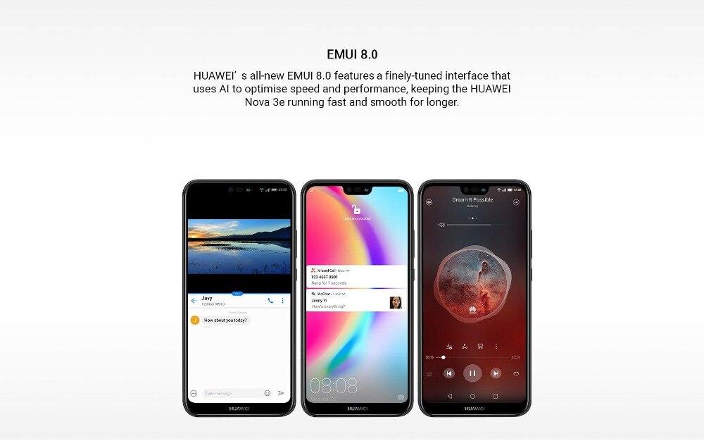 HTB1NDIsuKSSBuNjy0Flq6zBpVXa7 - Huawei P20 Lite Nova 3E Global Firmware 4G LTE Mobilephone Face ID 5.84
