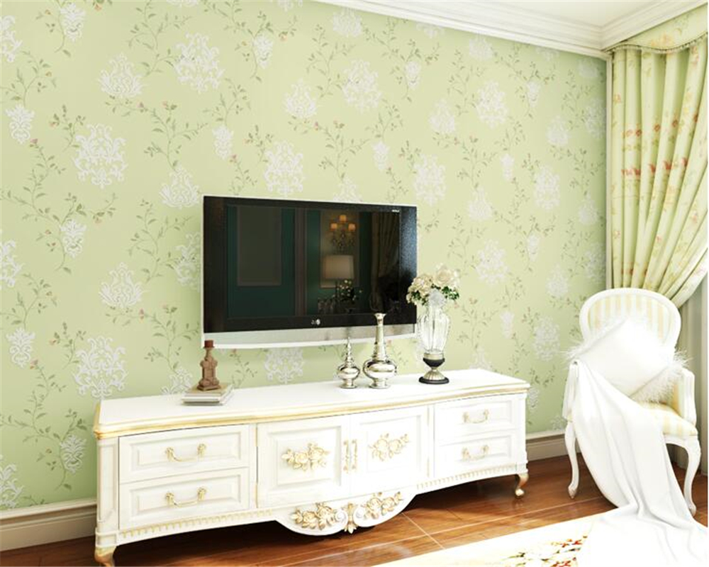 beibehang Elegant fresh pastoral wallpaper papel de parede wall paper small Suihua color non-woven bedroom living room backdrop beibehang papel de parede retro classic apple tree bird wallpaper bedroom living room background non woven pastoral wall paper