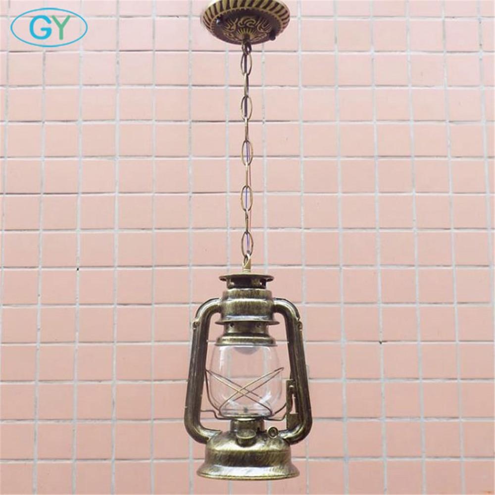 Винтаж Европейский Стиль кованые подвесные светильники Фонари гостиная столовая спальня ретро лампы ретро висит освещения