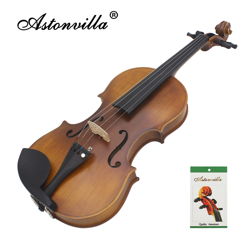 Astonvilla Handmade 4 /4 Reaationary Vintage Violin Exquisite Sub-gloss Varnish Stylish Retro Old-fashioned Fiddle Spruce Panel
