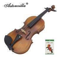Astonvilla Handmade 4 /4 Reaationary Vintage Violin Exquisite Sub gloss Varnish Stylish Retro Old fashioned Fiddle Spruce Panel
