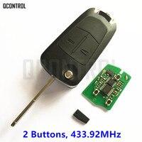 QCONTROL Xe Door Lock Key Từ Xa cho Chevrolet Captiva 2 nút Trọng Flip với Chip Keyless Nhập 2011 2012 2013 2014