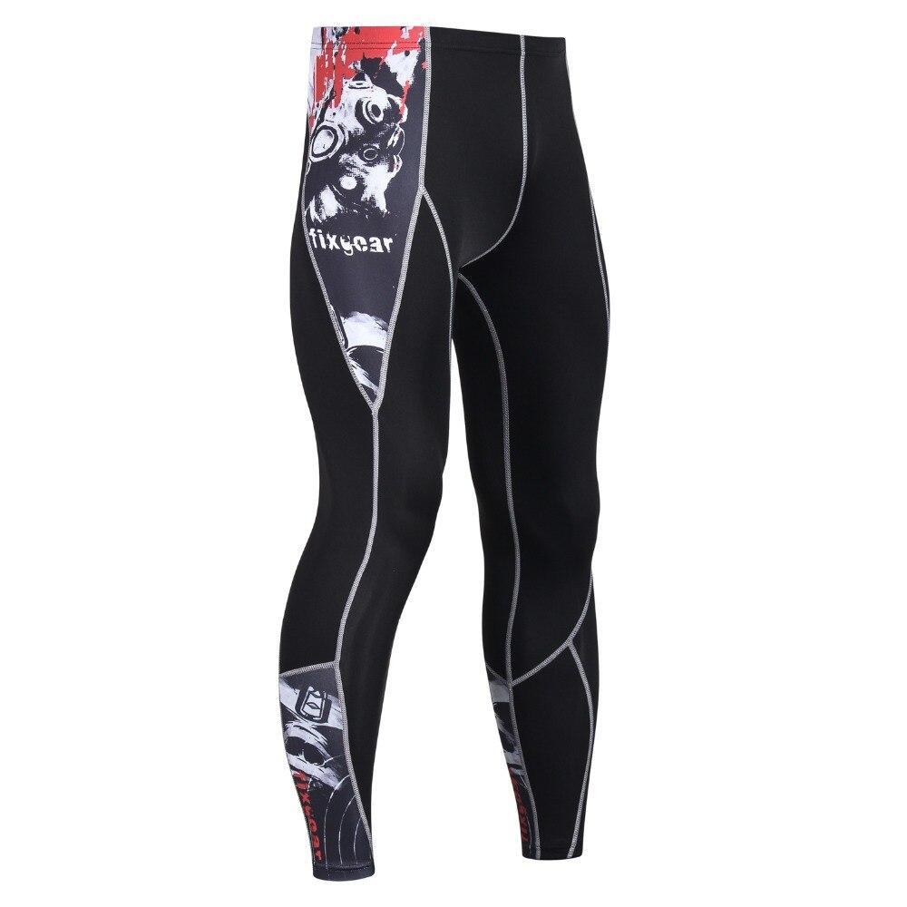 New 2018 Mens Compression Pants Fashion Jogger Tights Pants MMA Bodybuilding High Elasticity Joggers Base Layer Skinny Leggings