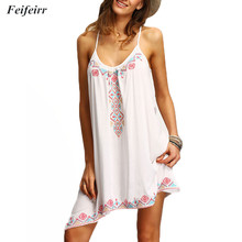 Summer Casual dress Sleeveless plus size Women Clothes 2019 European and American fashion Print Sexy Dress Beach Dresses Vestido