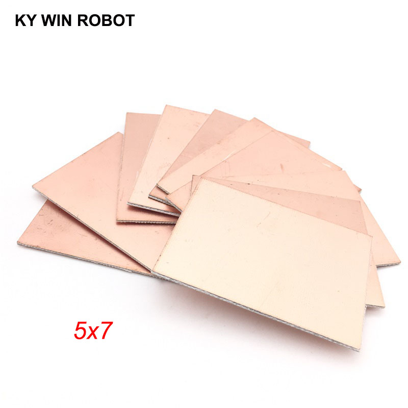 Double-sided Pcb Electronic Components & Supplies Strong-Willed 5 Pcs Fr4 Pcb 5*7cm Double Side Copper Clad Plate Diy Pcb Kit Laminate Circuit Board 5x7cm 50x70x1.5mm