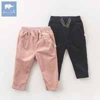 DB6170 dave bella autumn infant baby girls full length fashion print pants children toddler pants girls trousers