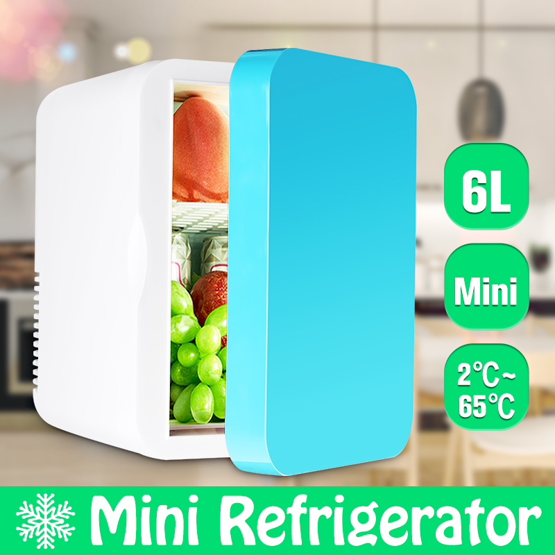 Portable 6L Mini Car/Home Refrigerator 2~65 Degree Cold Heating Fridge Vehicle Travel Warmer Temperature Control Refrigerator(China)