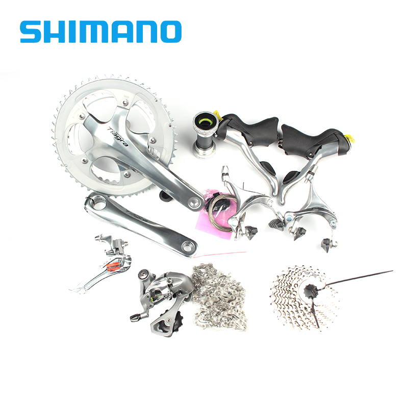 Shimano TIAGRA 4600 Groupset 2x10S 20S Speed 170mm 52-39T for Road Bike Bicycle Update from 4500 New arrive