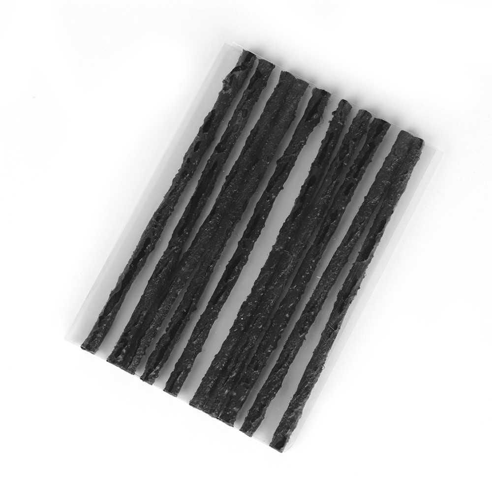 10/20/30 piezas nuevo práctico y útil neumático de bicicleta de coche negro sello sin cámara de goma kit de recuperación de reparación de perforaciones