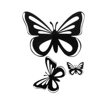 16.5x12.5CM Beautiful Butterflies For Auto Car Window Vinyl Decal Sticker Decals Decor dogo argentino windshield sticker vinyl auto window v2 window decals