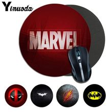 цены Yinuoda Your Own Mats Marvel Comics logo Mousepads gamer gaming Mouse pads round mousepad Rubber Rectangle Mousemats