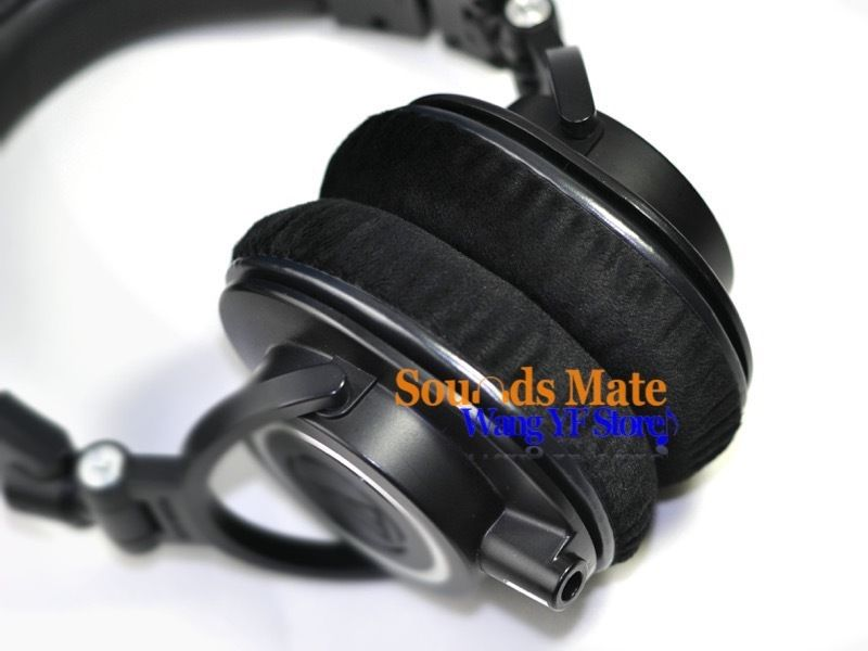 Smooth Velour Ear Pads Cushion For Audio Technica ATH M40 M50 M40X M50X M30  M35 SX1 M50S Dj Headphone Headset