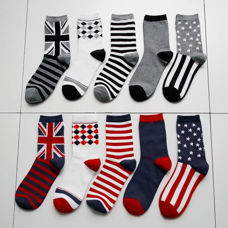 Man Socks striped socks business socks flags paragraph EUR39-44