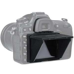 Image 2 - 2in1 LCD ekran koruyucu Pop up Sun Shade Hood kapak için Nikon D7100 D7200