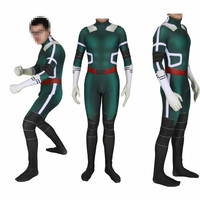 Boku No Hero Academia School Uniform Jumpsuit Cosplay Costume My Hero Academy Midoriya Izuku zentai Suit Bodysuit