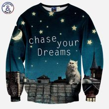 3D cat sweatshirt chase your dreams