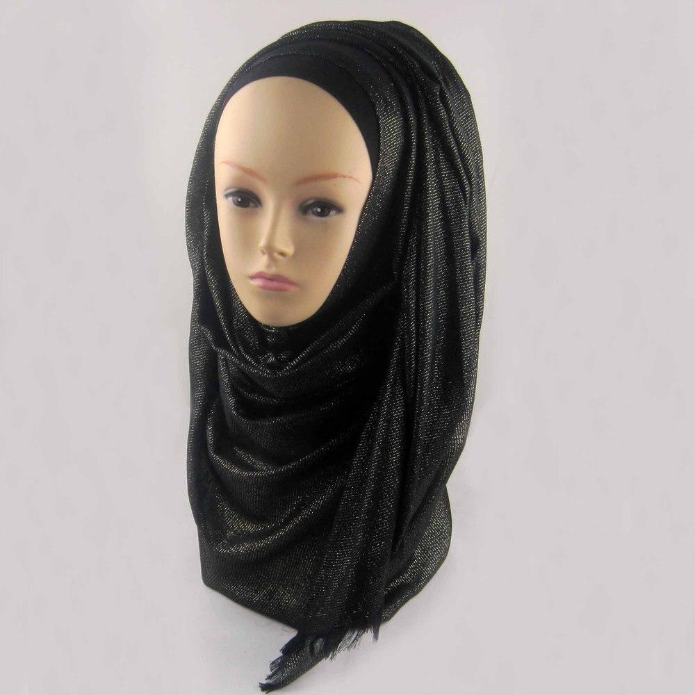 Мусульманский хиджаб мерцание шарф хиджабы блестящий шарфы мерцающий шаль, можете выбрать цвет - Цвет: color18