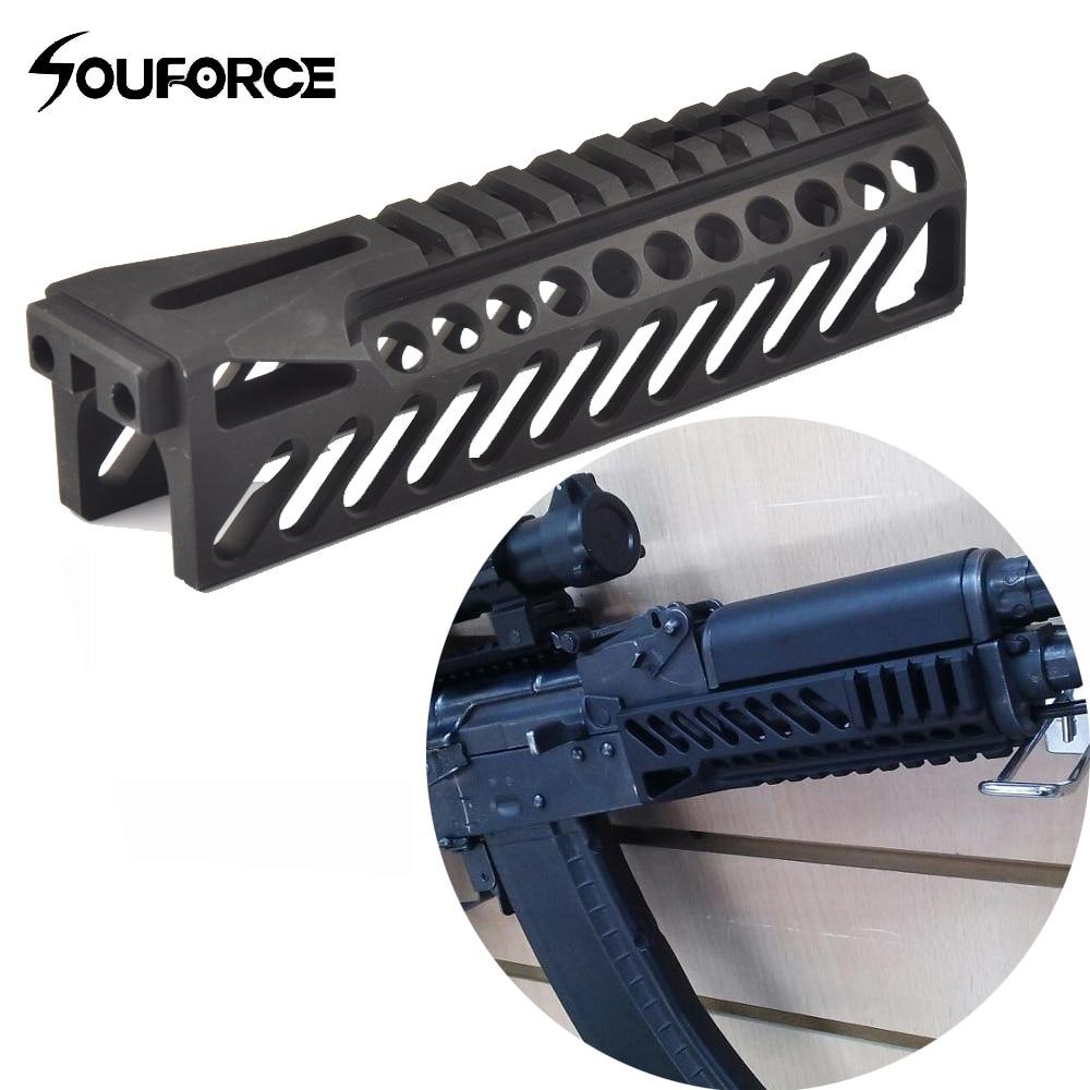 6,5 tum Tactical Gun Rail System GripExtend Picatinny Rail Handguard Skal för AK47 b10 Gevär Scopes Jakt Skytte