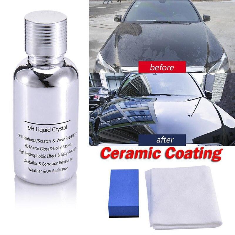 Нано-покрытие для автомобиля, жидкое стекло 9H, твердость кристалла, лак 30 мл, соединение керамики M8617