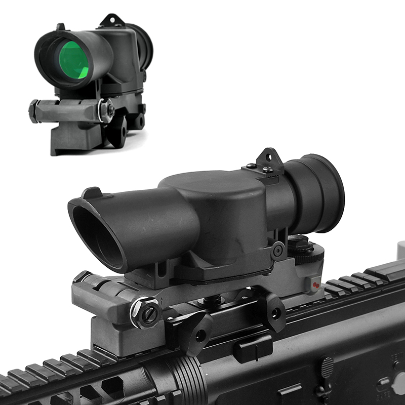 L85 SUSAT Iron Sight 3.5x30 Optical Sight Red Illuminated Rifle Scope Quick Detach for Airsoft Weaver Mount Hunting Scopes st3038 shoot thing xwxs l85 susat iron 4x32 optical sight rifle shotgun scope quick detach for airsoft weaver mount