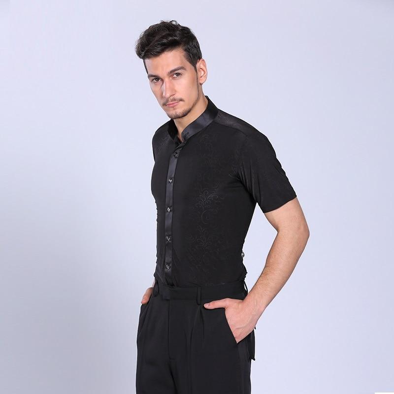 Picture of Adult Ballroom Latin Shirt Latin Dance Shirts Men Dance Top Mens Ballroom Dancewear Men Ballroom Clothes Ballroom Shirt