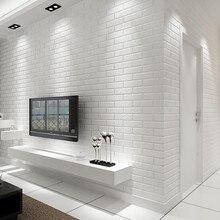 Trójwymiarowy wypukłe imitacja cegły cegły wzór tapety włókniny tapety salon TV tło tapety cegły