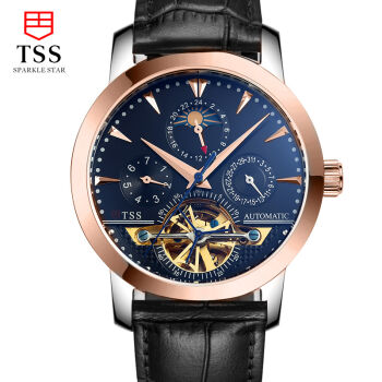 Luxury Brand Original TSS Men s Automatic Mechanical Watch leather Business Casual Male WristWatch Clock Halloween