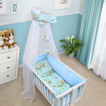 Baby Bed Bumper Infant Bed Cot Bumper Bed Protector Breathable Baby Crib Protector Toddler Nursery Bedding Safety Fence Sheets