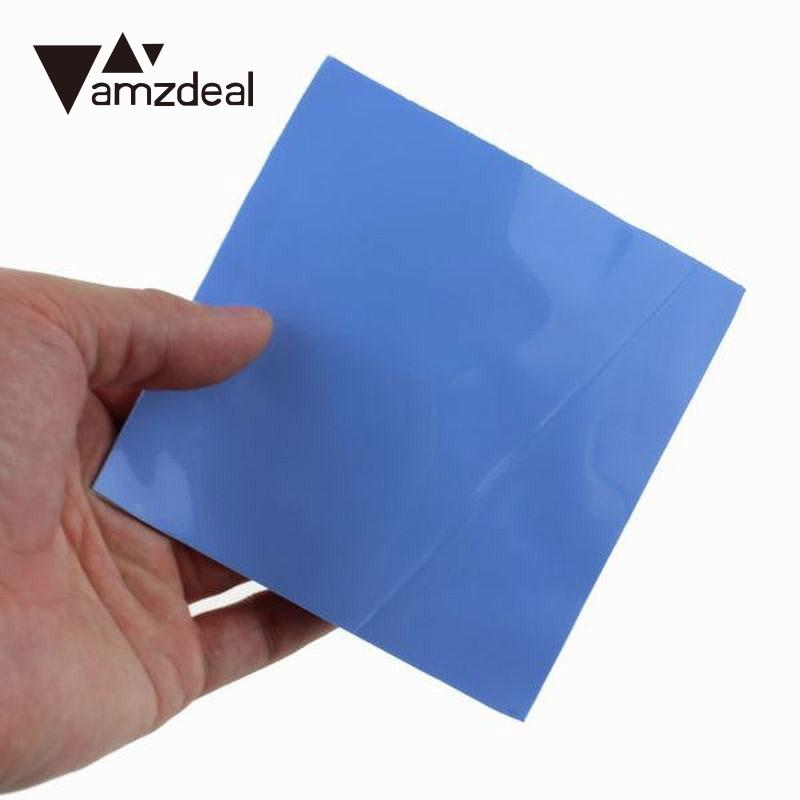 amzdeal 100x100x1mm Durable Thermal Silicone Heatsink Cooling Fin High Conductive GPU CPU Pad Computer Supplies synthetic graphite cooling film paste 300mm 300mm 0 025mm high thermal conductivity heat sink flat cpu phone led memory router