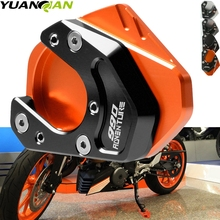 For KTM 990 Adventure 2006 2007 2008 2009 2010 2011 2012 Kickstand Side Stand Enlarger Foot Stand Extension Kick Pad Plate Base large side stand foot enlarger kit fit for bmw g650gs 2009 2013