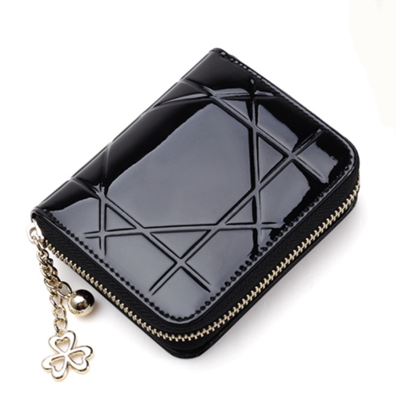 Patent Leather Womens Wallets Female Small Wallets Mini Zipper Wallet for Women Short Coin Purse Holders Clutch Girl Money Bag patent leather women short wallets ladies small wallet zipper coin purse pocket female wallet purses money bag women s pu2017
