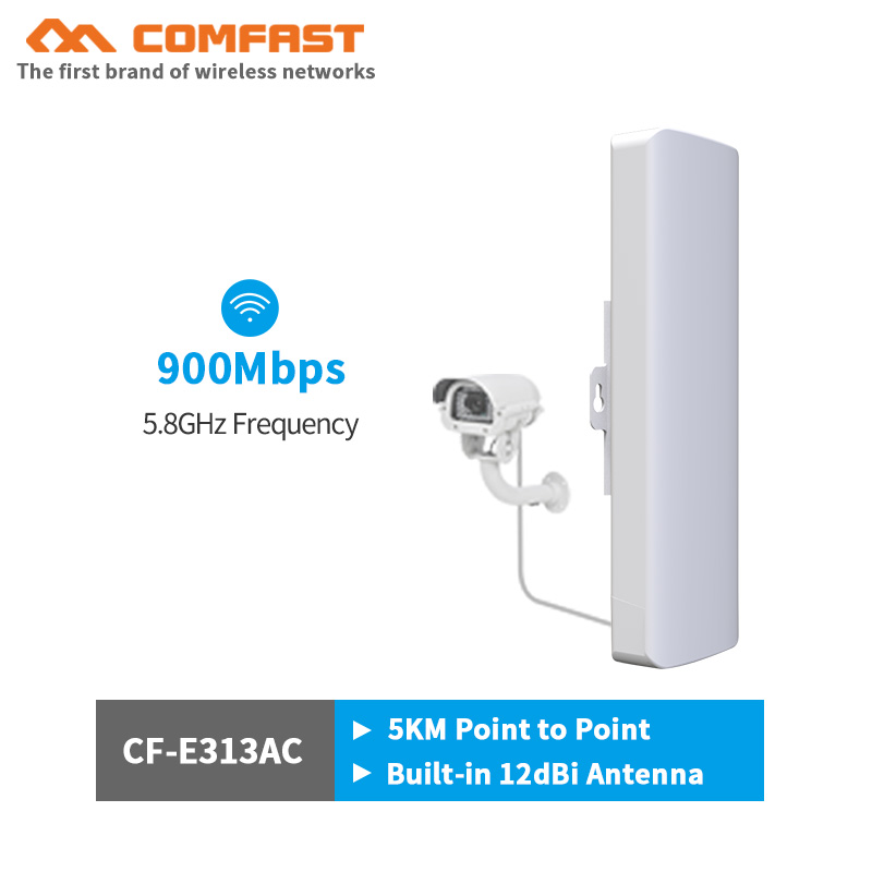 New 5 8G 900Mbps outdoor CPE wireless bridge wifi repeater amplifier point to point wifi transmission