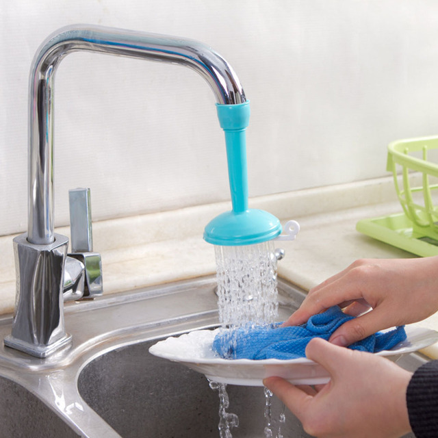 Kitchen Creative Water Saving Kitchen Faucet Sprayers Adjustable Tap Filter Nozzle Swivel Spout Faucet Bathroom Accessories