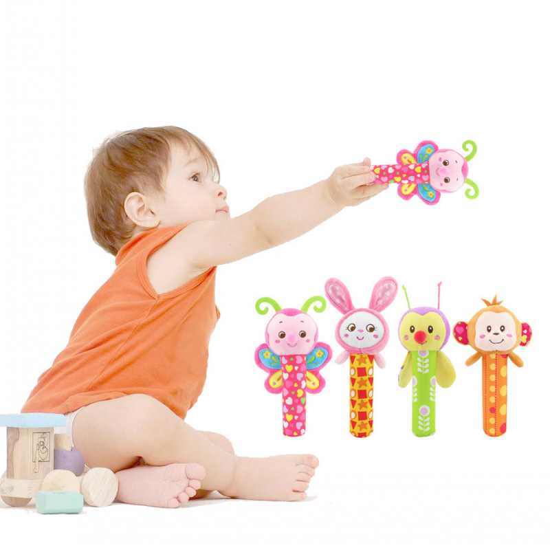 Cute Baby Rattles Handbells Toy Animal Design Soft Cartoon Stuffed Infant Baby Plush Toys Gift for Baby ...