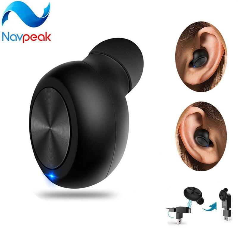 1 pc Mini Invisible Sans Fil Intra-auriculaires Écouteur Écouteur avec Magnétique USB Chargeur pour Téléphones Intelligents et et D'autres Périphériques Bluetooth