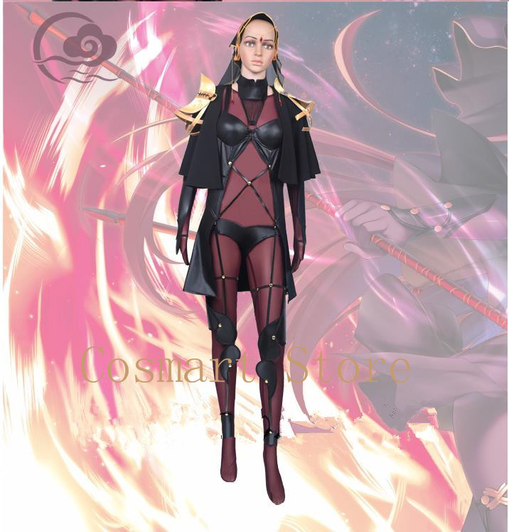 [Custom Made]Game Fate/Grand Order Scathach Purple and Black Sexy Anime Figure Uniforms Cosplay Costume Full Set New