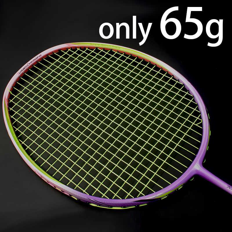 8U Professional Carbon Fiber Badminton Racket Raquette Super Light Weight Multicolor Rackets 22-35lbs Z Speed Force Padel
