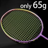 8U Professional Carbon Fiber Badminton Racket Raquette Super Light Weight Multicolor Rackets 22 35lbs Z Speed Force Padel