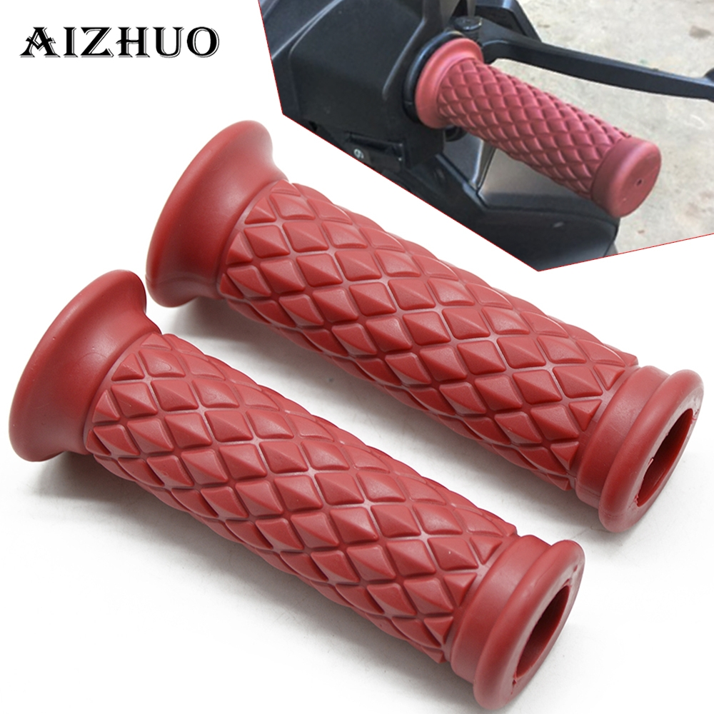 22 25MM Motorcycle Universal Vintage Rubber Motorbike Handlebar For SUZUKI Yamaha V Star 1100 650 Classic Custom Harley Davidson in Grips from Automobiles Motorcycles