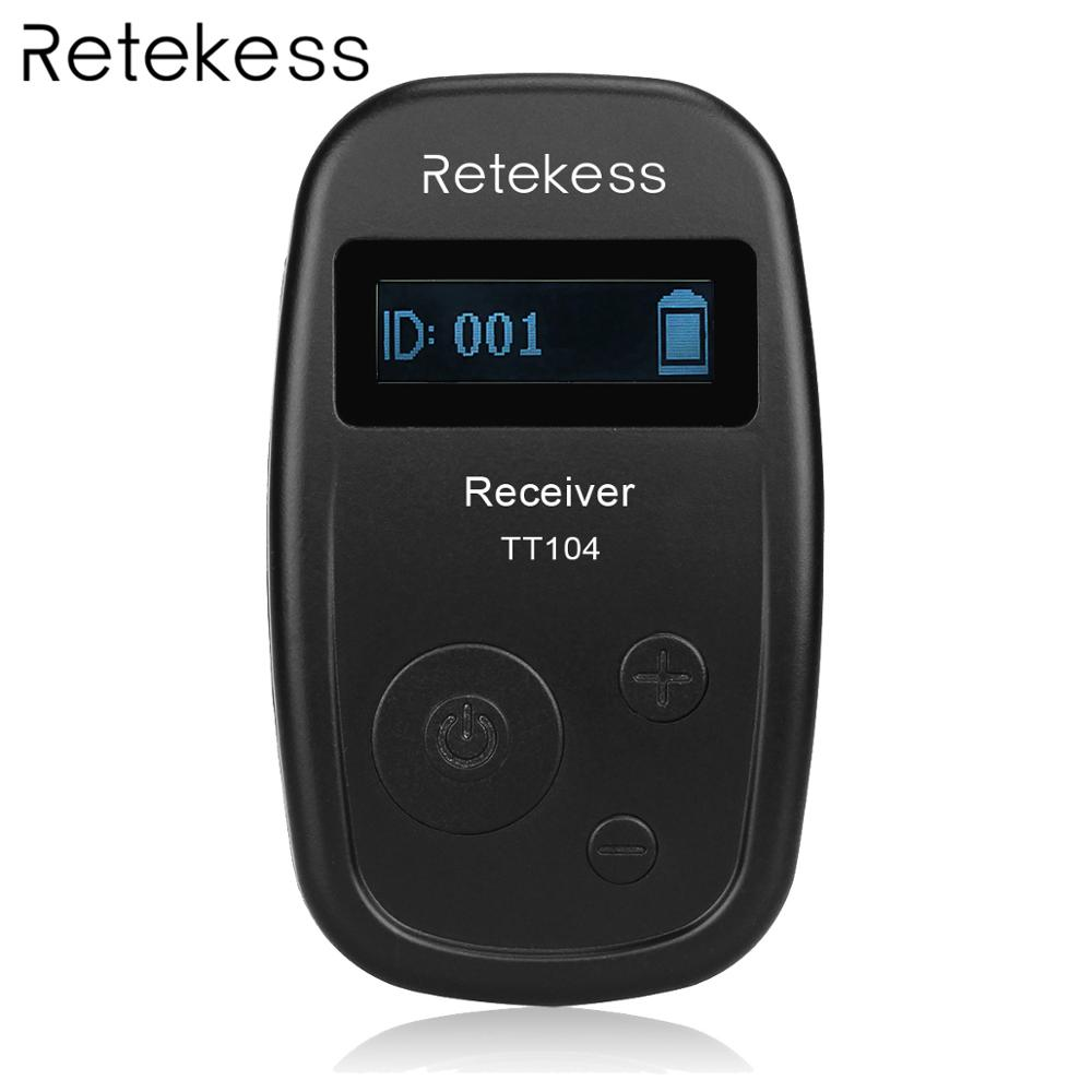 Retekess TT104 UHF Wireless Receiver For Wireless Tour Guide System Meeting Church Simultaneous Interpretation System