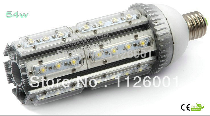 HOT SELL 2pcs/lot 54W warm /cold white led street light E27,E40 base  rotation 360 degress,AC85-265V Input voltage,IP54 ,CE Rohs