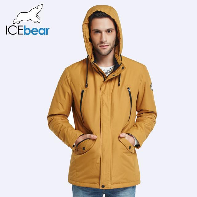 ICEbear 2017 Double Pockets Mens Spring Trench Coat Fashion Men Parka Thin Coat High Quality Men's Slim Jacket