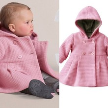 Coat Clothing Baby-Girl Winter Outwear New Warm Pink SY013 DS6 Trench Wholesale Kids