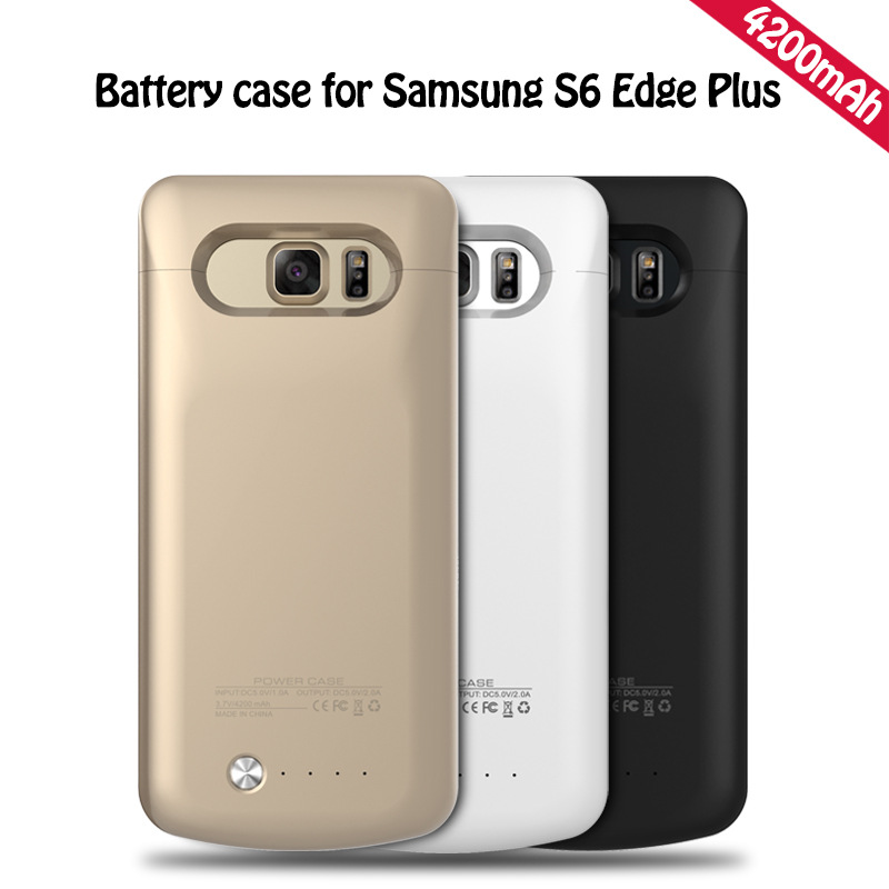 imágenes para Alta capacidad 4200 mah Banco de la Energía Externa Del Cargador de Batería Para samsung galaxy s6 edge plus g9250 caso de la energía del teléfono móvil Cas